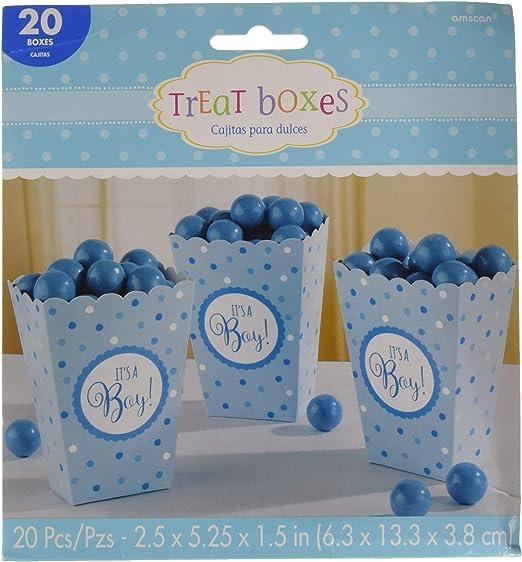 Amazon.com: It s a Boy Baby Shower Azul Cajas De Palomitas ...