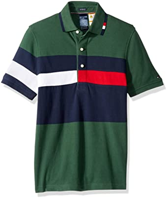 832dde7742329 Tommy Hilfiger Men s Polo Shirt with Magnetic Buttons Custom Fit at ...