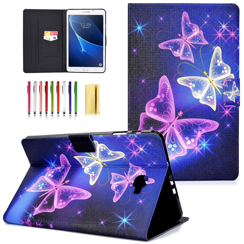 【人気沸騰】 UUcovers Samsung Galaxy 保護ケース Tab A B07L95DCLS 10.1ケース プレミアムPUレザースマートスタンドカバー 自動ウェイク/スリープコーン 04 保護ケース Galaxy Tab A 10.1インチタブレット用 (SM-T580/T585) 04 Purple Butterfly B07L95DCLS, ウィッグと和装つけ毛のアゼリア:60b0a475 --- a0267596.xsph.ru