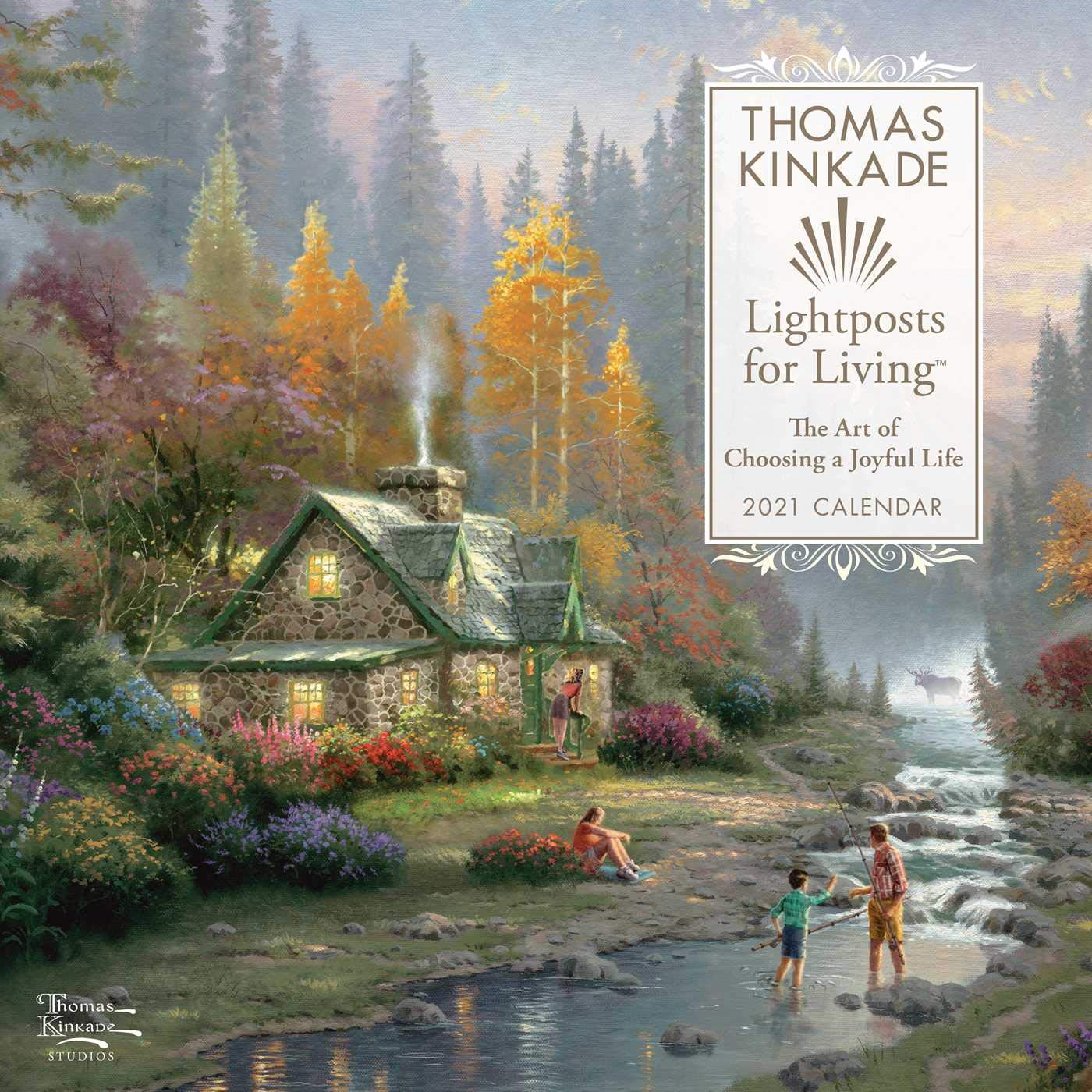 Thomas Kinkade Lightposts for Living 2021 Wall Calendar: Kinkade
