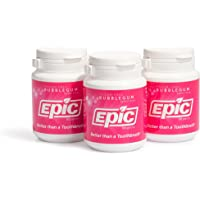 Epic 100% Xylitol-Sweetened Chewing Gum (Bubblegum, 50-Count Bottles (Pack of 3))