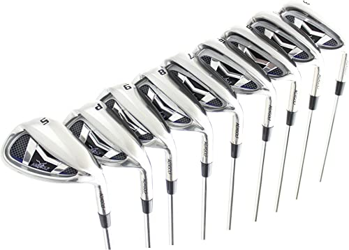 AGXGOLF Men s Magnum XS Tour Edition Stainless Steel Irons Set 3-9 Irons Pitching Wedge Sand Wedge Senior, Regular or Stiff Flex Cadet, Regular or Tall Length Right Hand USA Built