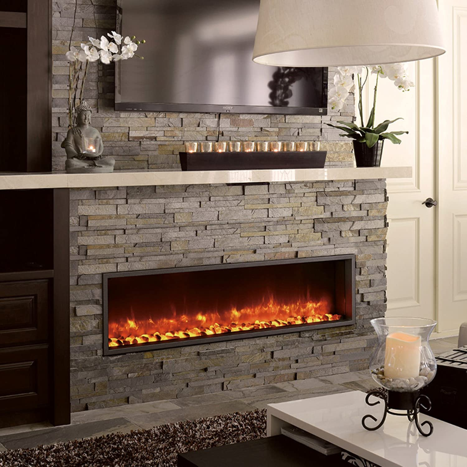 DYNASTY DY BT63 Built in Linear Electric Fireplace 63 Inch - Good Electric Fireplace Idea