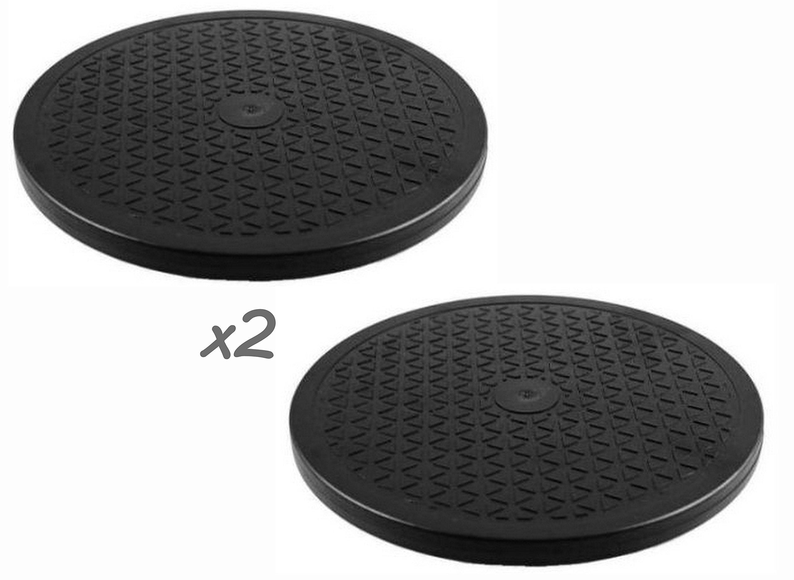 ALAZCO 2 Lazy Susans - 10'' Rotating Turntable - Each 65 Lbs Capacity