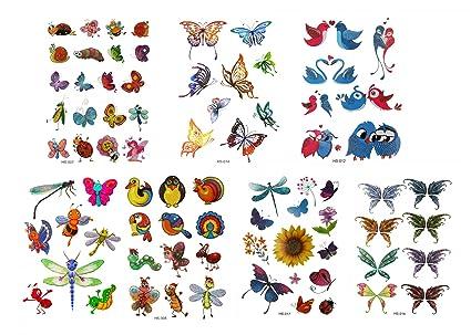 GGSELL GGSELL Tatuaje para niños, 7 unidades, tatuajes temporales ...