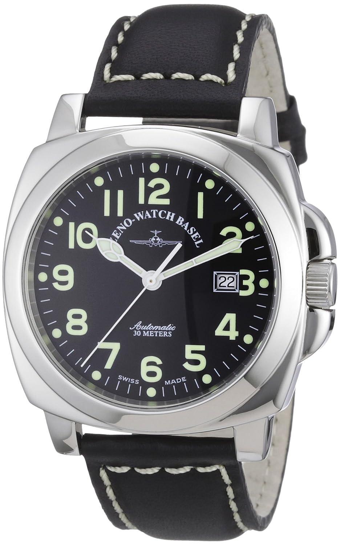 Zeno Watch Basel 3554-a1 - Reloj analógico automático para Hombre con Correa de Piel, Color Negro