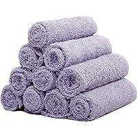 Skumars Love Touch 10 Piece 300 GSM Cotton Face Towel Set - Purple