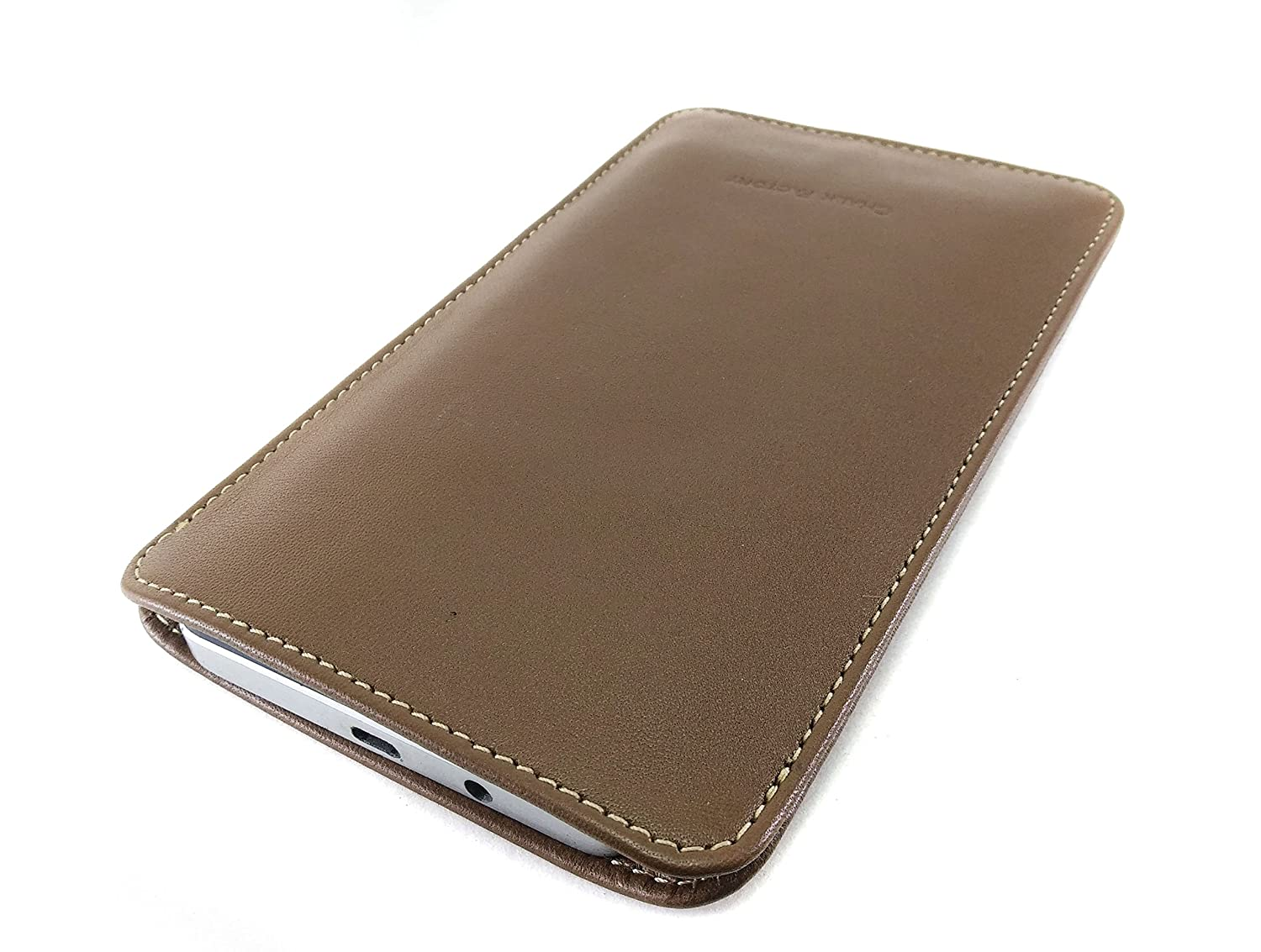 san francisco 56f6a 01139 Chalk Factory Genuine Leather Mobile Case, Pouch for Samsung Galaxy Note 8  Mobile Phone (Tan)
