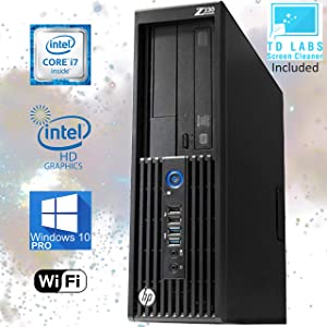 HP z230 Workstation SFF Desktop Computer, Intel Core i7-4770 Upto 3.9GHz, 16GB RAM, 256GB SSD + 500GB HDD, HD Graphics 4600 4K, DisplayPort, HDMI, Wi-Fi, Bluetooth - Windows 10 Pro (Renewed)