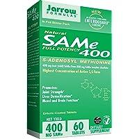 Jarrow Formulas SAM-e, Promotes Joint Strength and Mood, 400 mg, 60 Enteric-Coated...