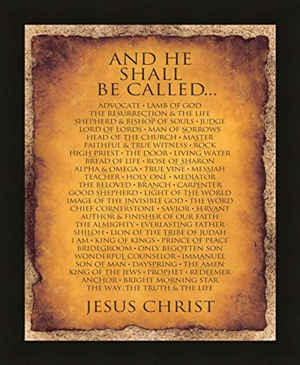 Amazon.com: 16x20 And He Shall Be Called.. Black Art Print Poster ...