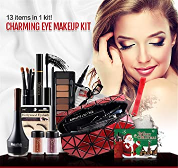 38c44c2a030 FantasyDay 13Pcs Pro Makeup Gift Set Makeup Bundle Essentials Starter  Beauty Kit Including Eyeshadow Palette,