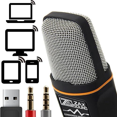 ZaxSound Professional Cardioid Condenser Microphone