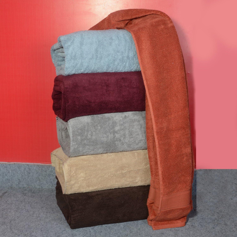 Light Grey 90 x 180cm traditional mafia Traditional Mafia-100/% Zero-Twist Cotton 1-Piece Oversized Bath Sheet//Beach Towel 1000 GSM