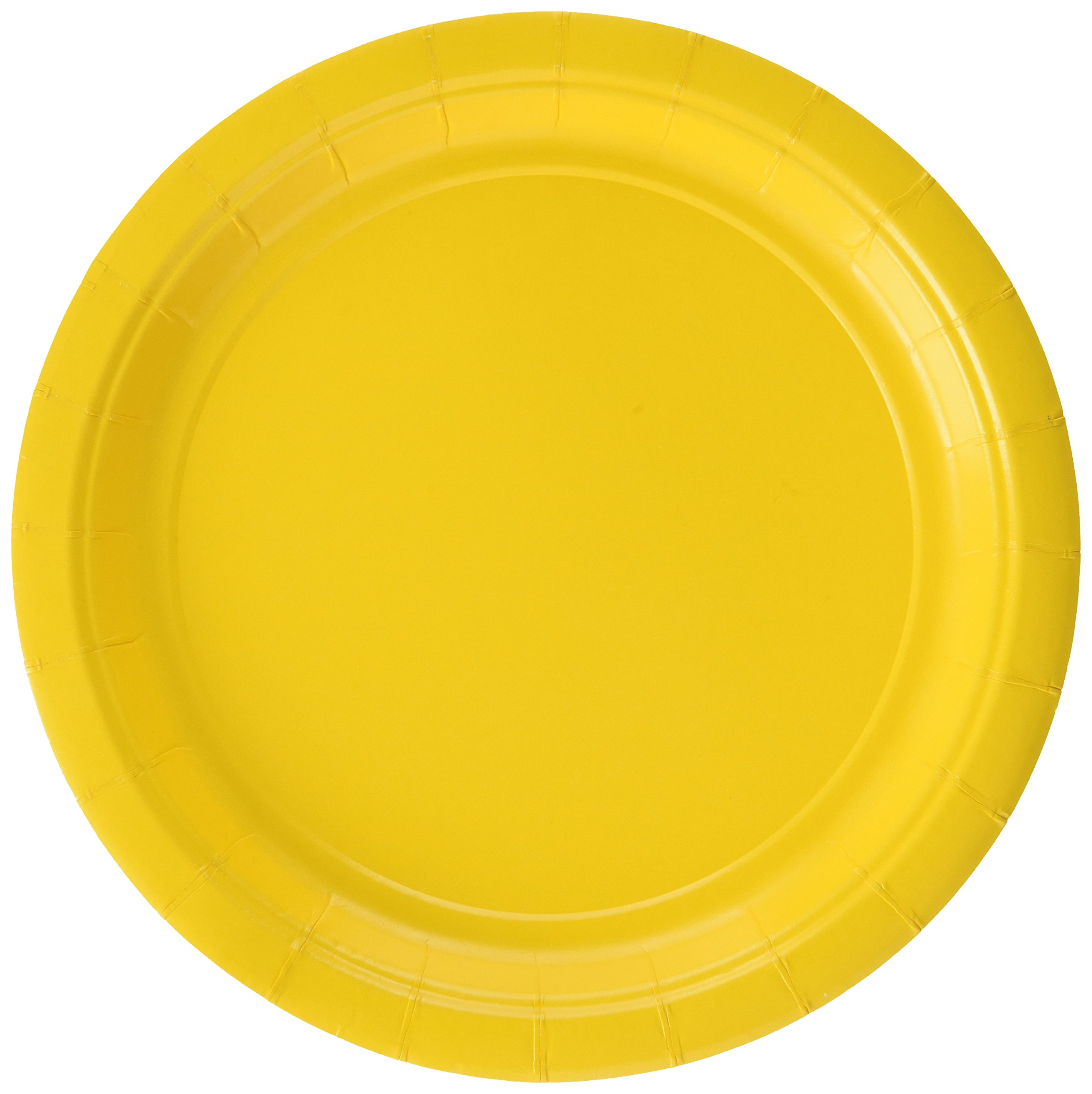 amscan Sunshine Yellow Round Paper Plates | 7'' | Party Supply | 120 ct. by amscan