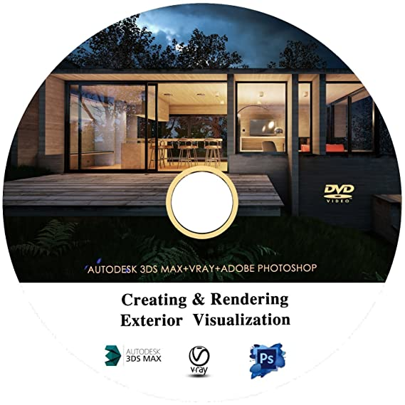 Architectural Modeling & Rendering Realistic Exteriors in 3ds Max , V-Ray  and Adobe Photoshop Video Training Tutorial in DVD