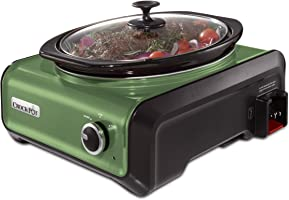 Crock-Pot SCCPMD3-GR Hook Up Oval Connectable Entertaining System, 3.5-Quart, Metallic Sage