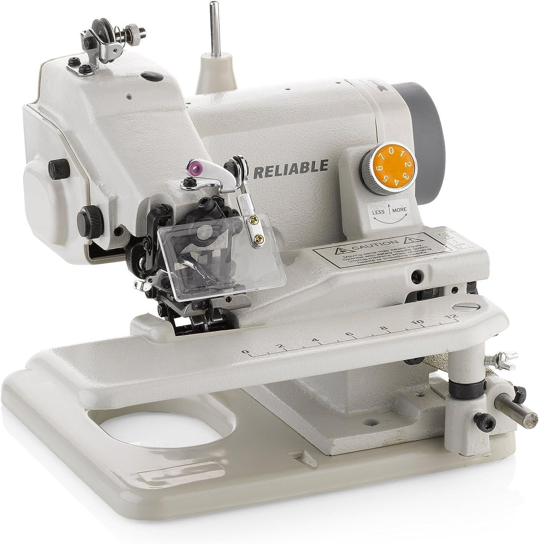 Reliable Maestro 600SB máquina de coser portátil con dobladillo invisible de hasta 3 pulgadas, protector de ojo de aguja, palanca de punto de salto, penetración de ...