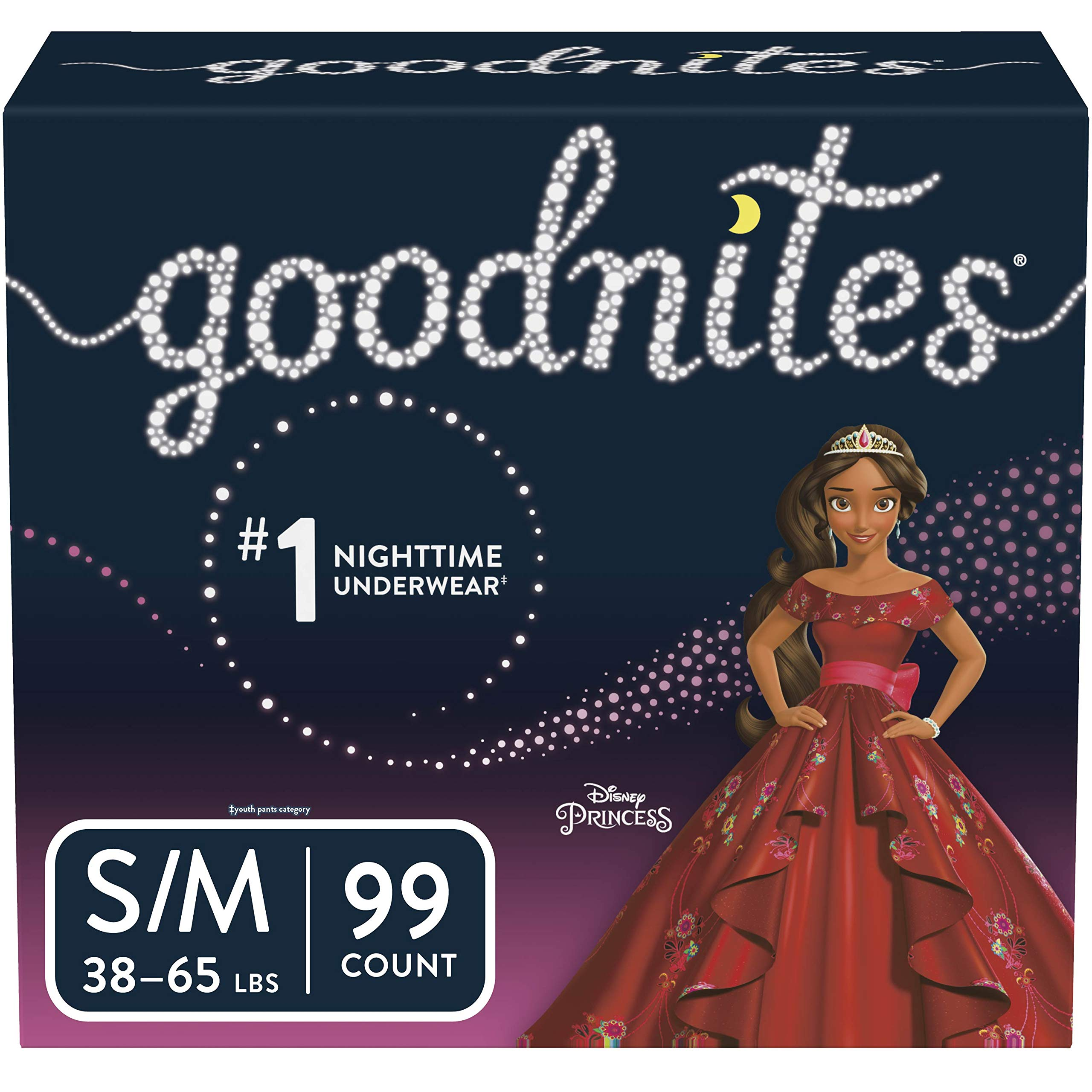 Goodnites Bedwetting Underwear for Girls, S/M (38-65 lb.), 99 Ct, Stock Up Pack (Packaging May Vary) by GoodNites