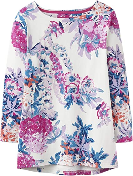 Joules Harbour Print Jersey Top Floral