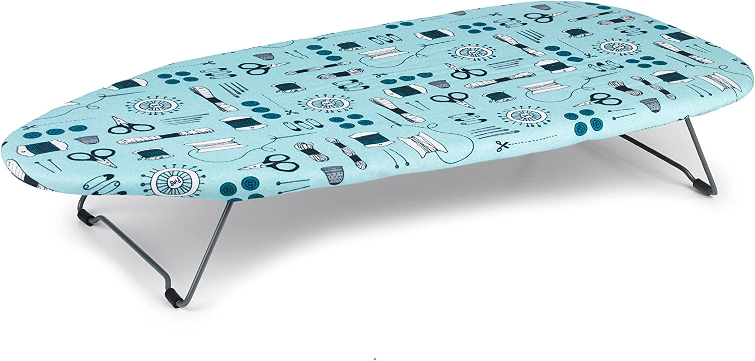 Beldray LA023735 Sewing Print Table Top Ironing Board 76 x 33cm