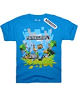 Official Mojang Licensed Minecraft short sleeve T-shirt for Kids Boys - Ages 3 to 14 Years