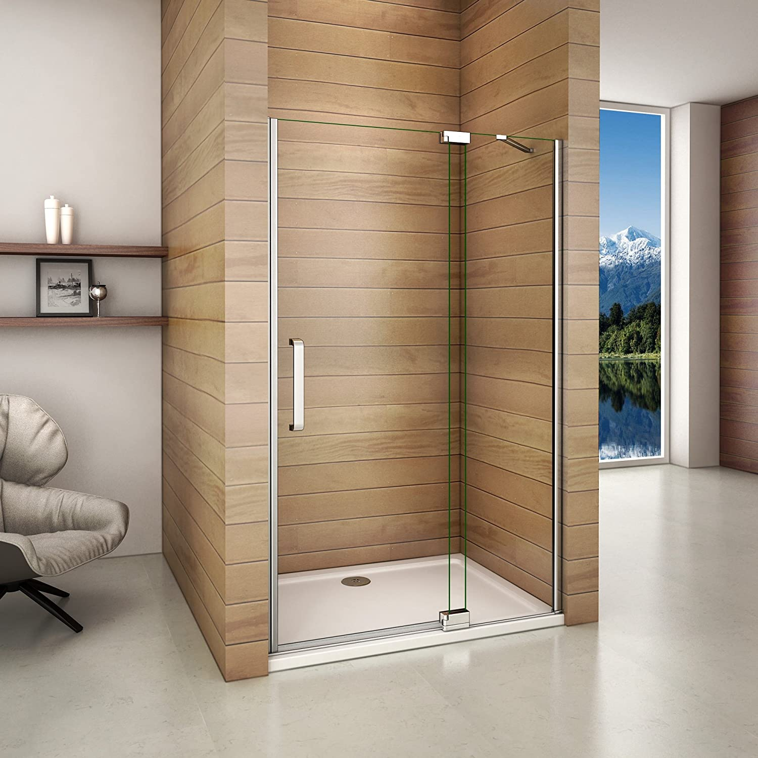 Perfect 800mm Pivot Shower Door 8mm Easy Clean Glass Shower Enclosure Cubicle Door
