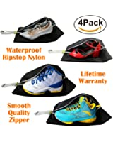 Shoe Bags for Travel Women and Men Set of 4 Travel Accessories, Waterproof Ripstop Nylon
