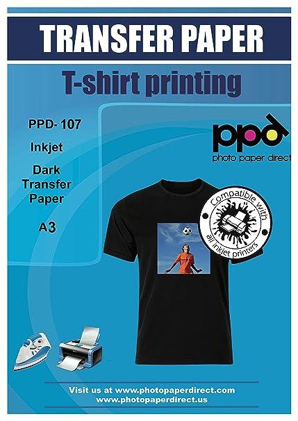PPD PPD-107-25 - Papel de transferencia para camiseta de ...
