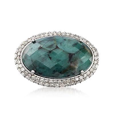 f84c40fa799d6 Amazon.com: Ross-Simons 13.00 Carat Opaque Emerald and .99 ct. t.w. ...