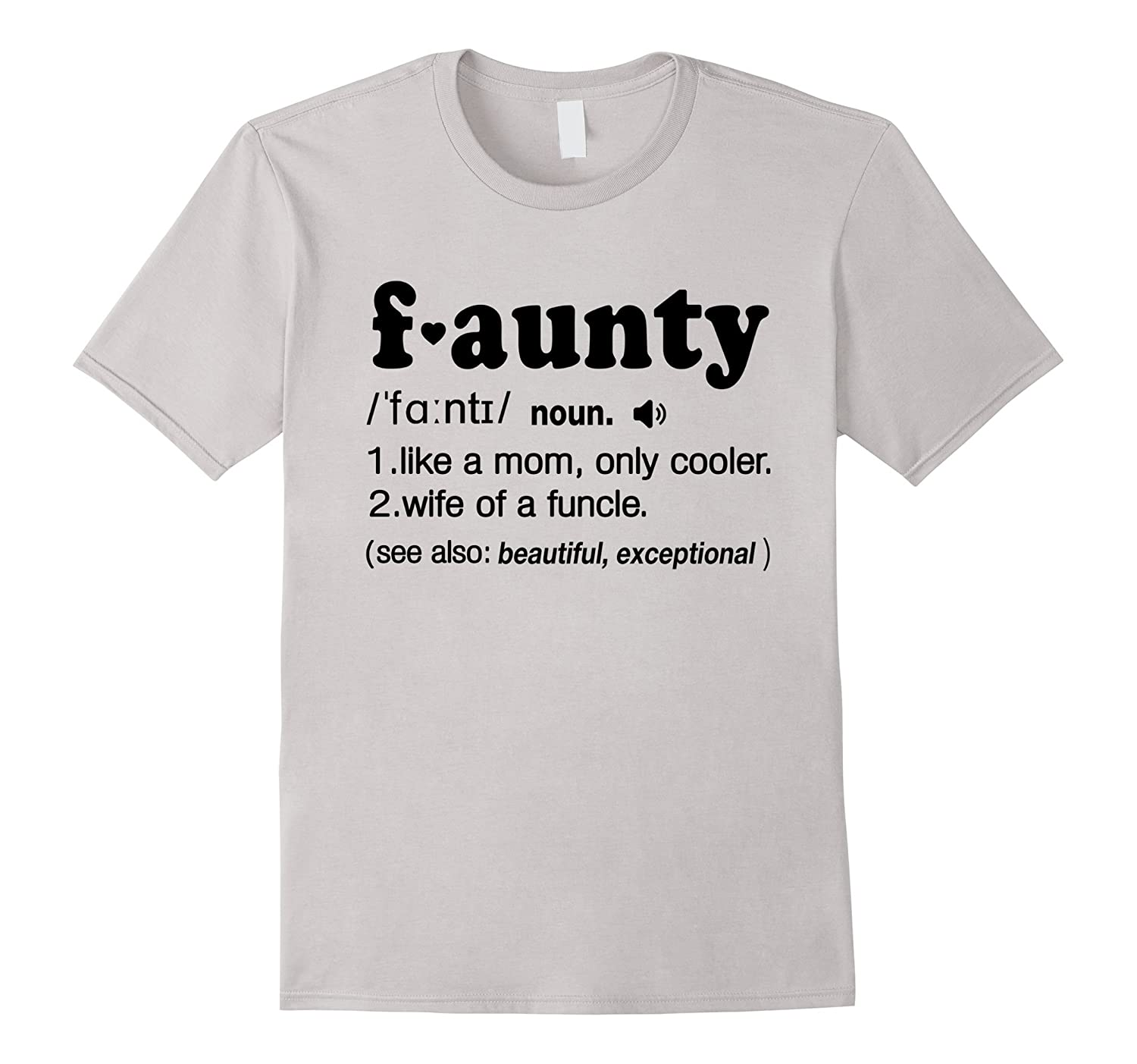 47696aff Funny Aunt Faunt Definition, Wife of Funcle T Shirt-ANZ ⋆ Anztshirt
