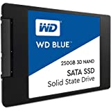 Western Digital WDS250G2B0A WD Blue 3D NAND Internal SSD 2.5 Inch SATA, 250 GB - Black
