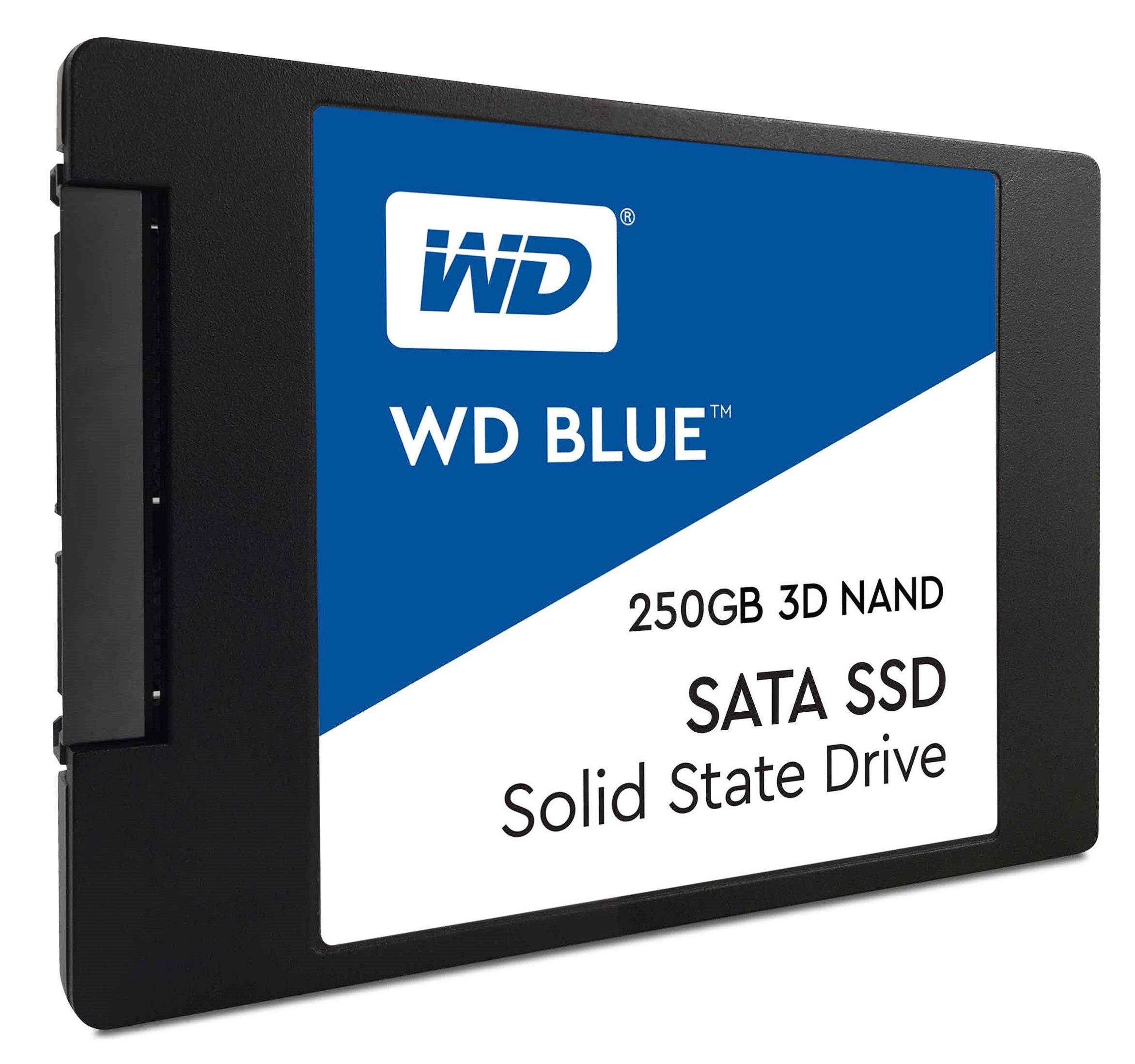 WD Blue 3D NAND 250GB PC SSD - SATA III 6 Gb/s 2.5''/7mm Solid State Drive - WDS250G2B0A