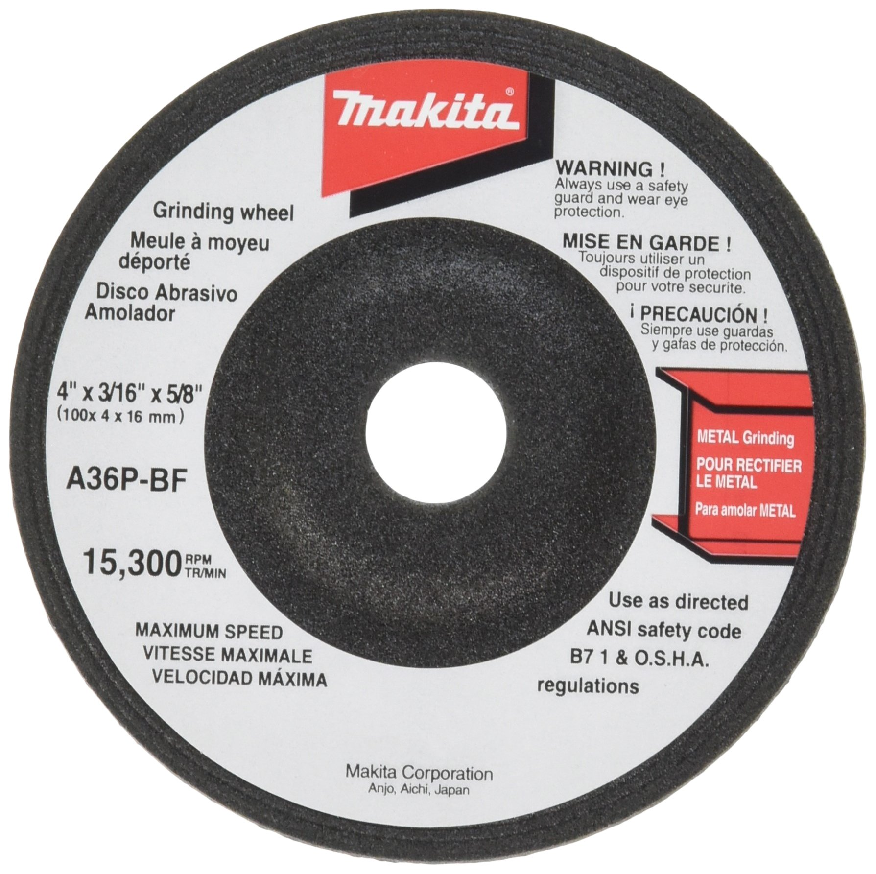 Makita 741405-2P 4-Inch Grinding Wheel, 5-Pack (Discontinued by Manufacturer)