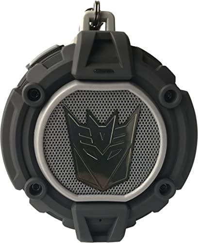 Transformers Bluetooth v4.2 Speaker LED Decepticon Symbol Projector,Build-in Microphone,Hands-Free Rechargeable Water Dust Resistance Black