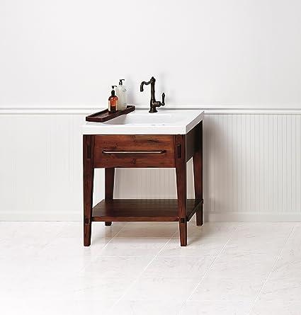 Ronbow 053930-F19 Portland Bathroom Vanity Cabinet Base, 30 ...