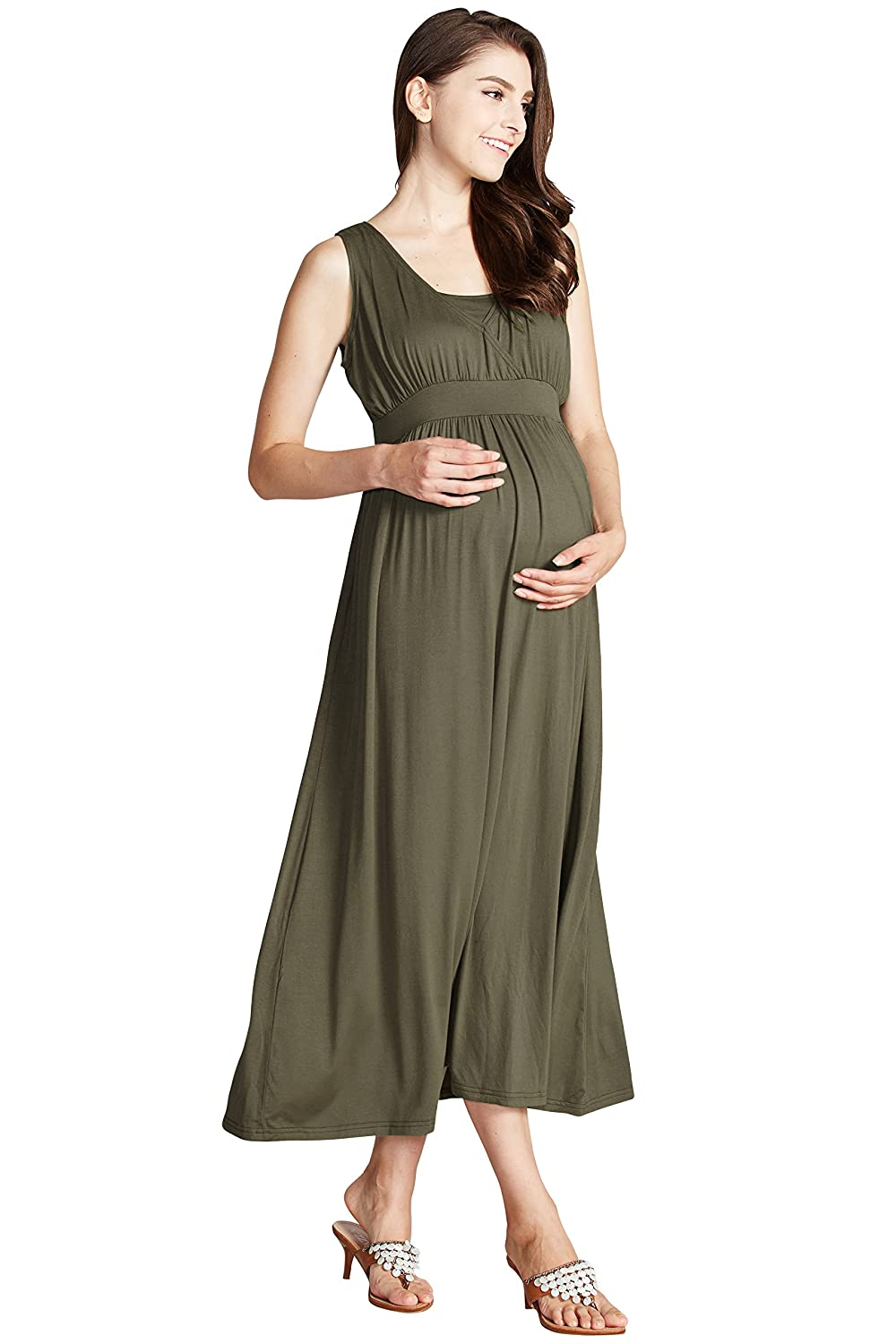Sweet Mommy Maternity and Nursing Drape Maxi Dress Sweet Mommy Co. Ltd