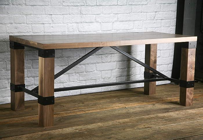 Incredible Amazon Com Rustic Industrial Farmhouse Table Walnut Desk Interior Design Ideas Gentotthenellocom