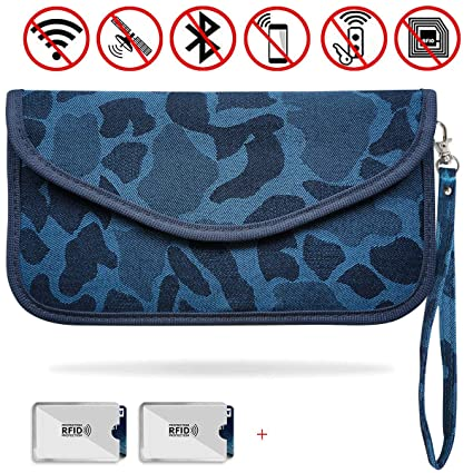 Pink Syscudo Faraday Bag Car Key Fob RFID Signal Blocking Protector Cage with a Key-Chain for Anti-Theft and Anti-Hacking Faraday Bag