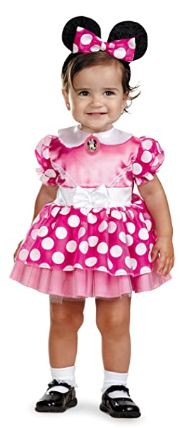 6ed4210956d08 Amazon.com: Minnie Mouse Clubhouse - Pink Minnie Mouse Infant Costume 12-18  Months: Clothing