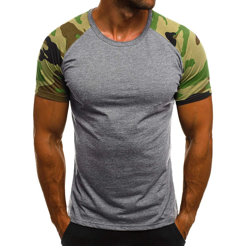Dutuy Summer T Shirt Men Harajuku Fashion Mens Casual Slim Camouflage Printed Short Sleeve T Shirt Top Blouse C XXXL China