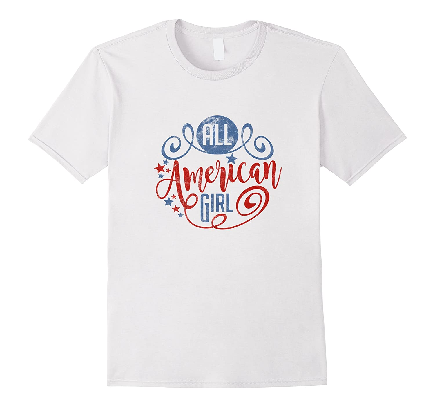 All American Girl T Shirt Vintage Texture PL