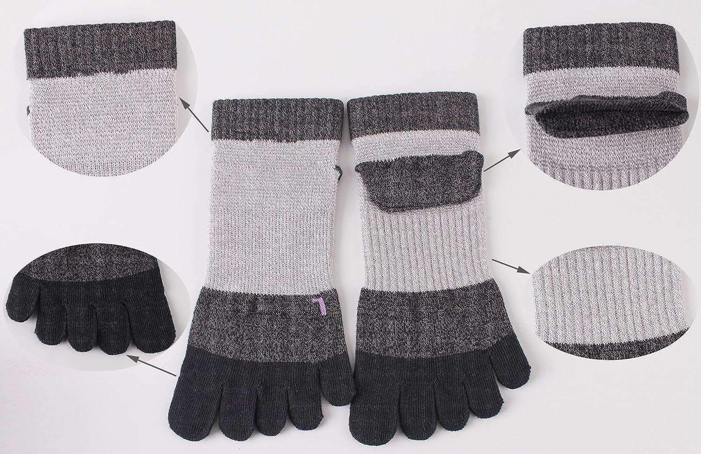 GINZIN mujeres Deportes Cinco calcetines del dedo del pie 6 pares ...