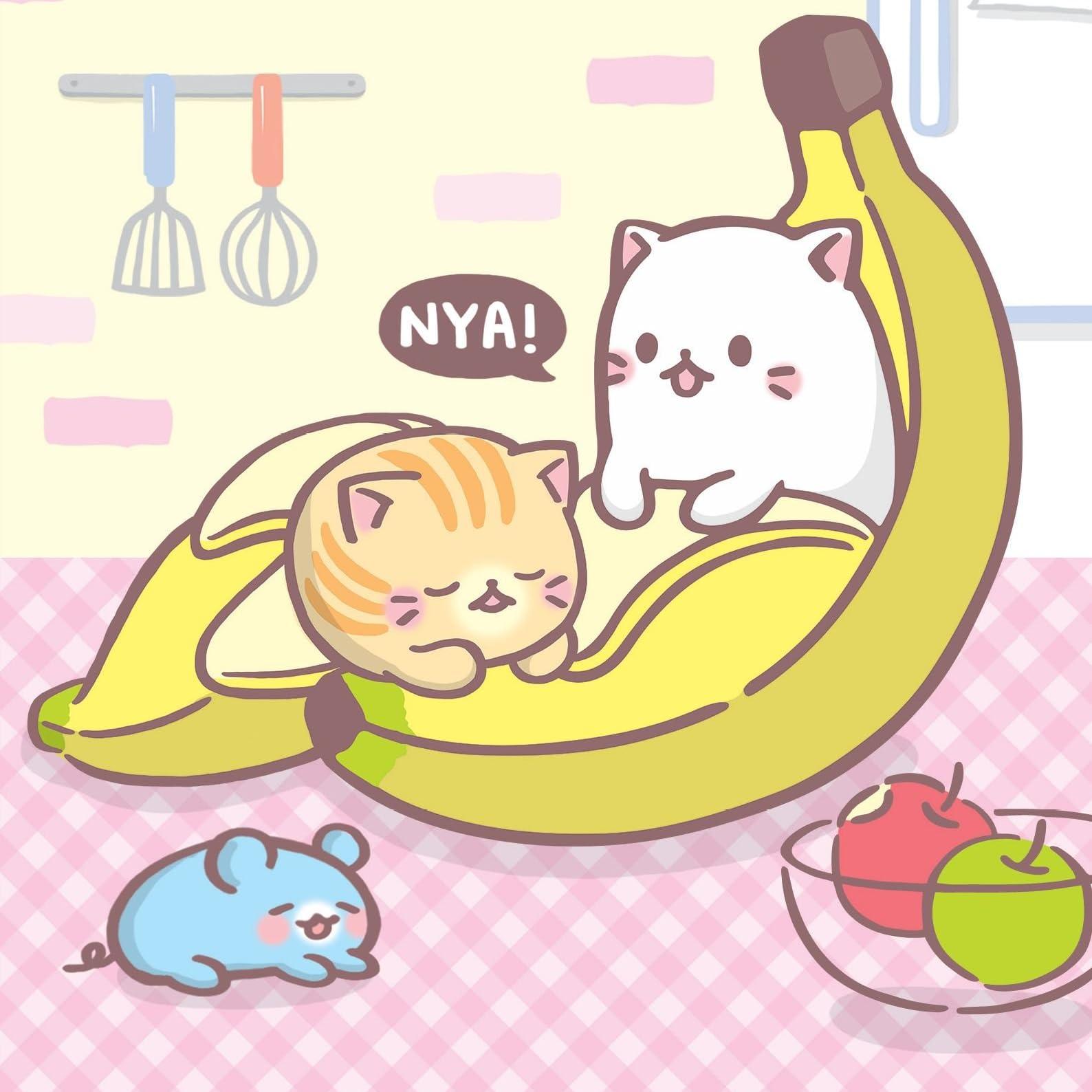 ばなにゃ Ipad壁紙 バナナにひそむにゃんこ アニメ スマホ用画像115716