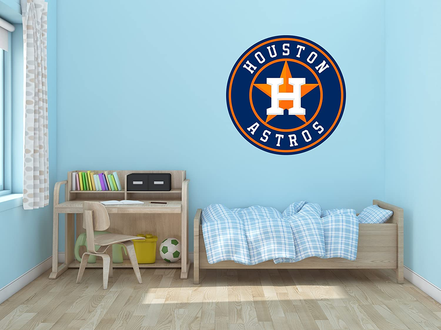 """Baseball Team Logo - Removable Wall Decal Vinyl for Home Decoration (15"""" x 15"""")"""