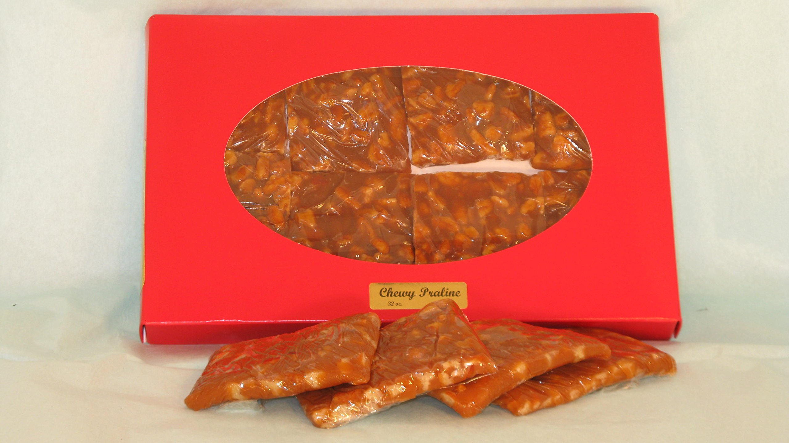 Chewy Pralines Gift Box (2 Pounds) by Holiday Farms