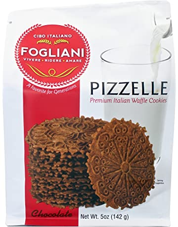 Fogliani Chocolate Pizzelle Waffle Cookies (Pack of 1)