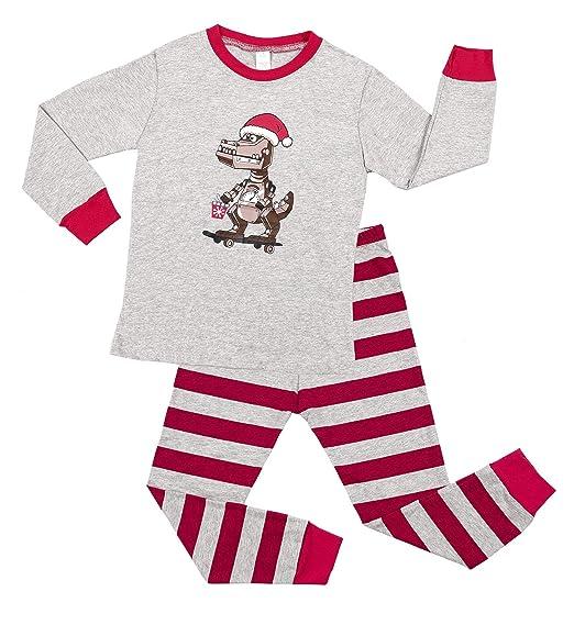 5f151348c Amazon.com  Vegatos Girls Boys Christmas Pajamas 100% Cotton Kids ...