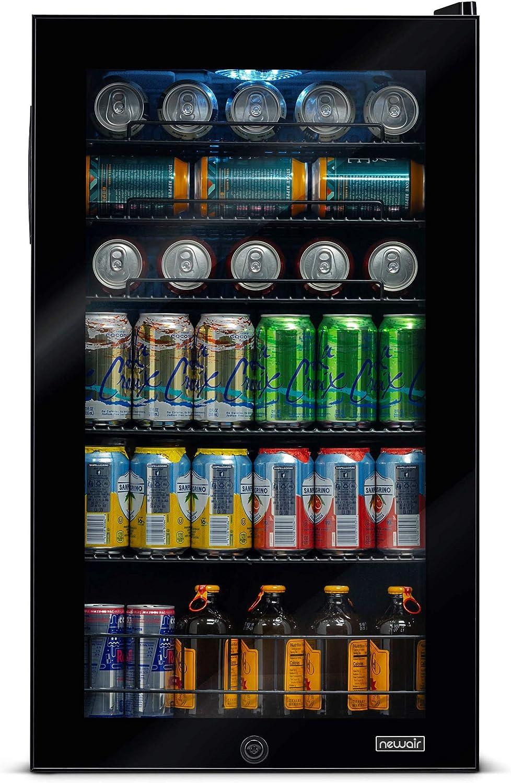 NewAir 126 Can Freestanding Beverage Fridge, Black (Renewed)
