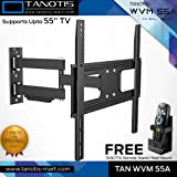 "Tanotis Imported 6 Way Swivel Tilt TV Wall mount for LCD/LED TV's upto 32"" to 55"" inch TAN WVM 55A + Free TANOTIS Remote Stand TAN ACC RMS"